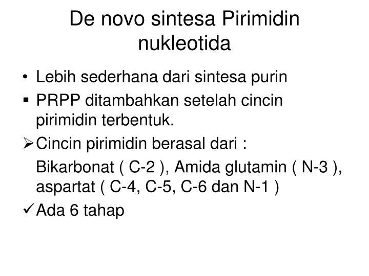 De novo sintesa Pirimidin nukleotida
