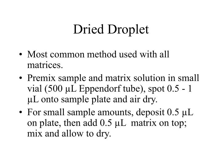 Dried droplet