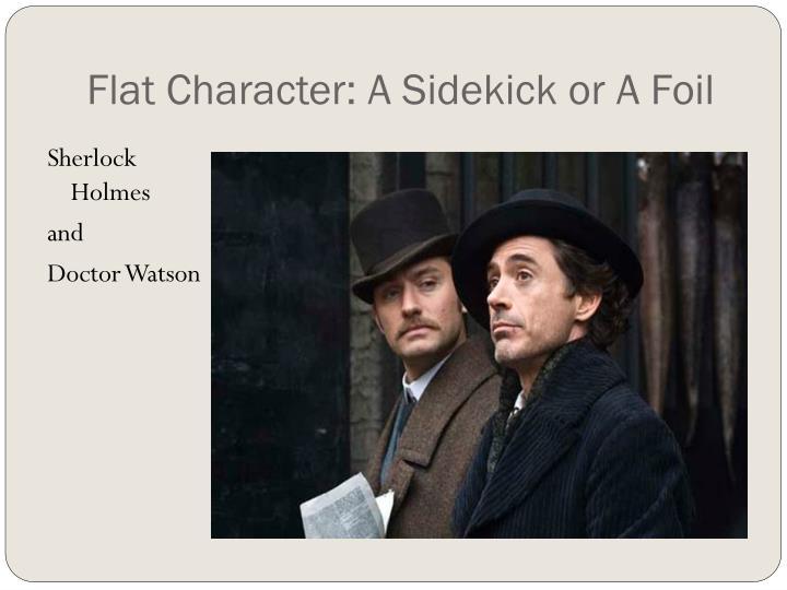 Flat Character: A Sidekick or A Foil