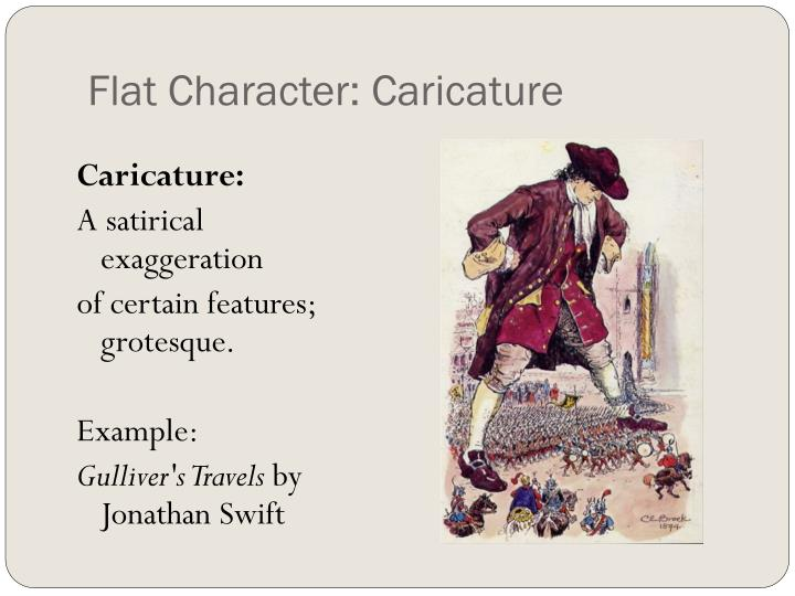 Flat Character: Caricature