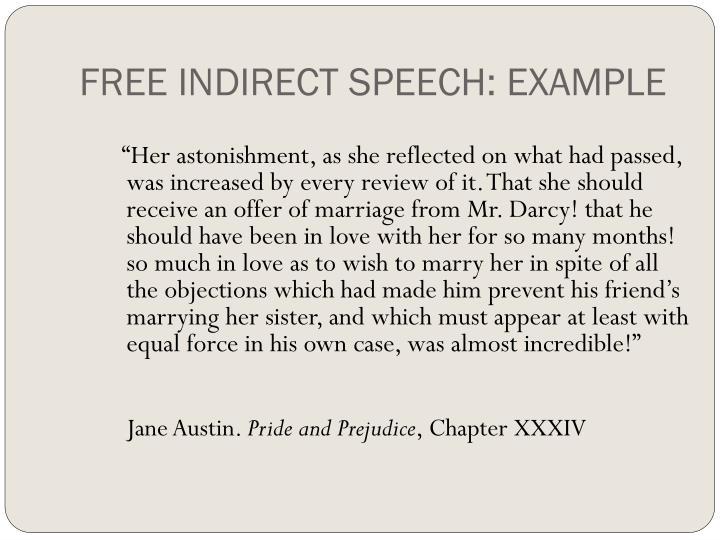 FREE INDIRECT SPEECH: EXAMPLE