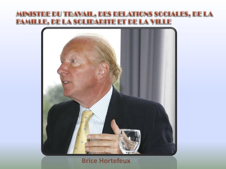 MINISTRE DU TRAVAIL, DES RELATIONS SOCIALES, DE LA FAMILLE, DE LA SOLIDARITE ET DE LA VILLE