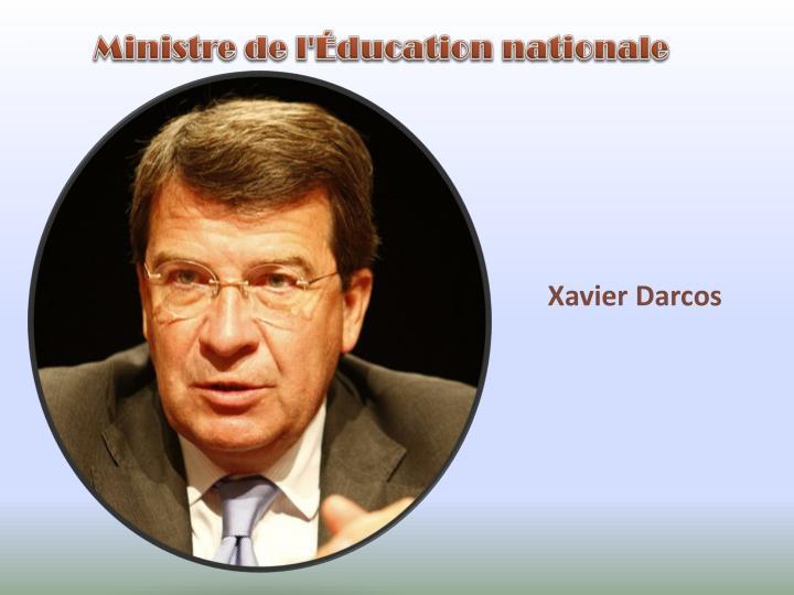 Ministre de l'Éducation nationale