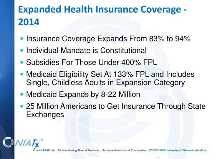 Expanded Health Insurance Coverage - 2014