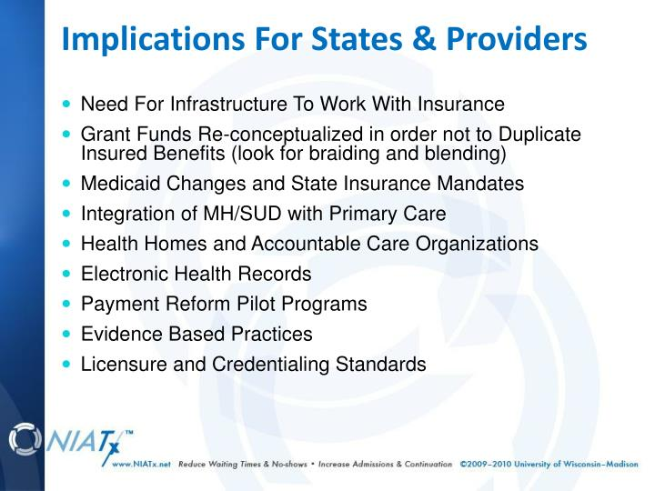Implications For States & Providers