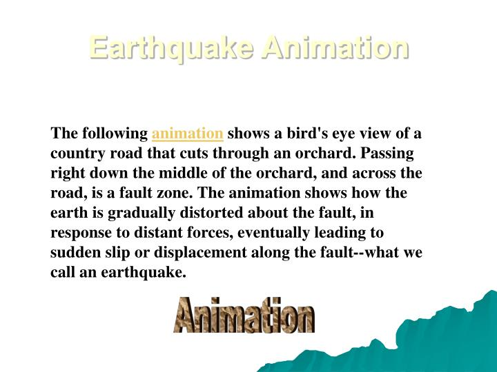 Earthquake Animation