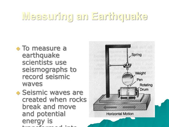 Measuring an Earthquake