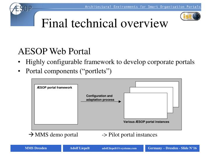 Final technical overview