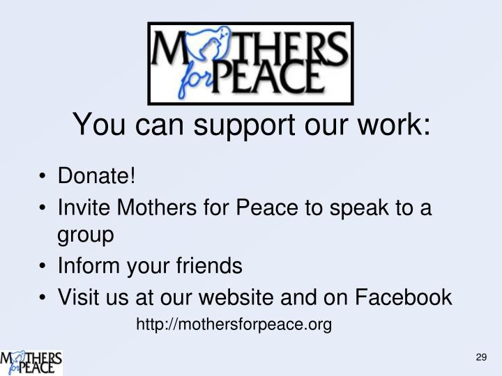 You can support our work: