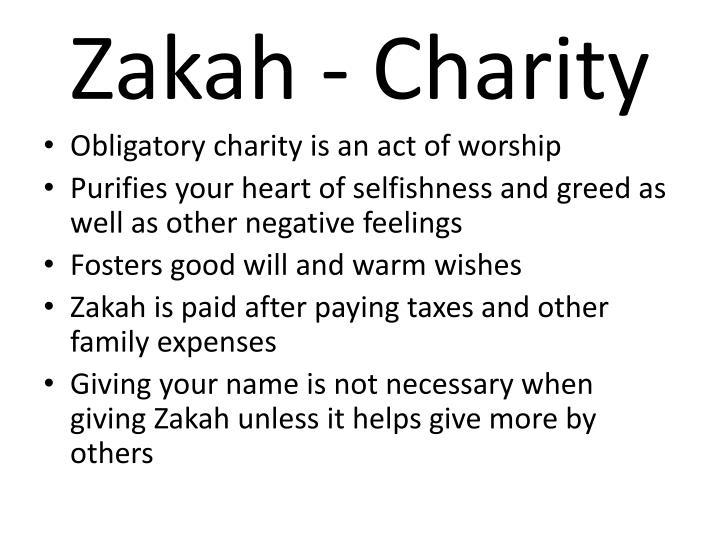 Zakah - Charity
