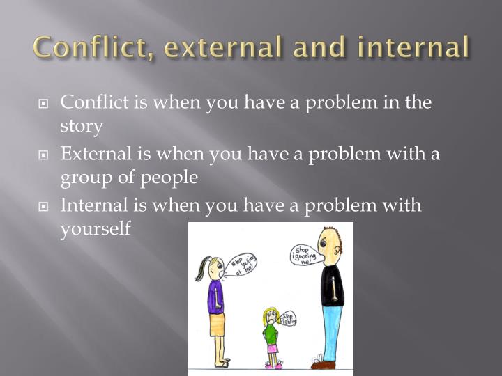 Conflict, external and internal