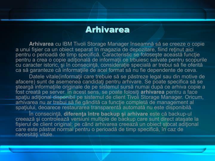 Arhivarea