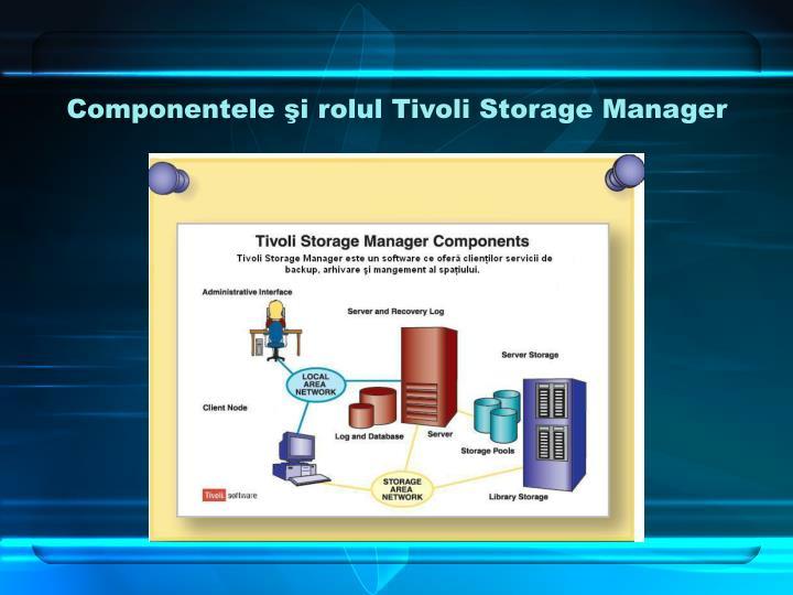 Componentele şi rolul Tivoli Storage Manager
