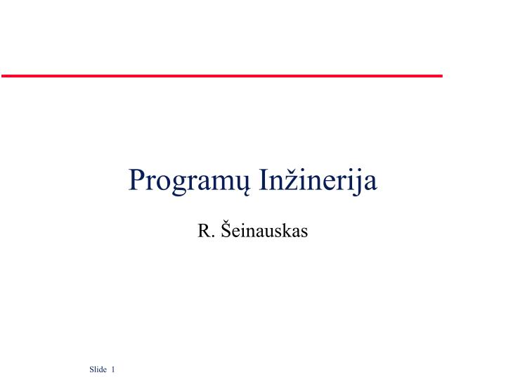 Program in inerija