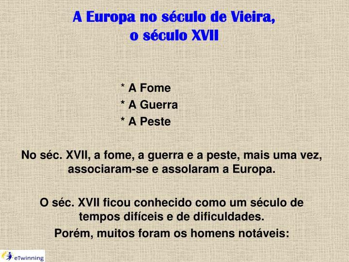 A Europa no século de Vieira,