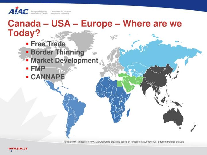 Canada – USA – Europe – Where are we Today?