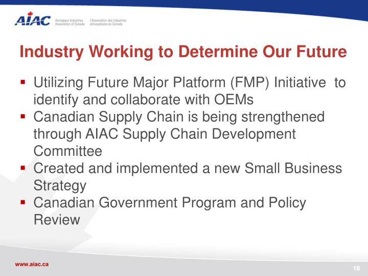 Industry Working to Determine Our Future