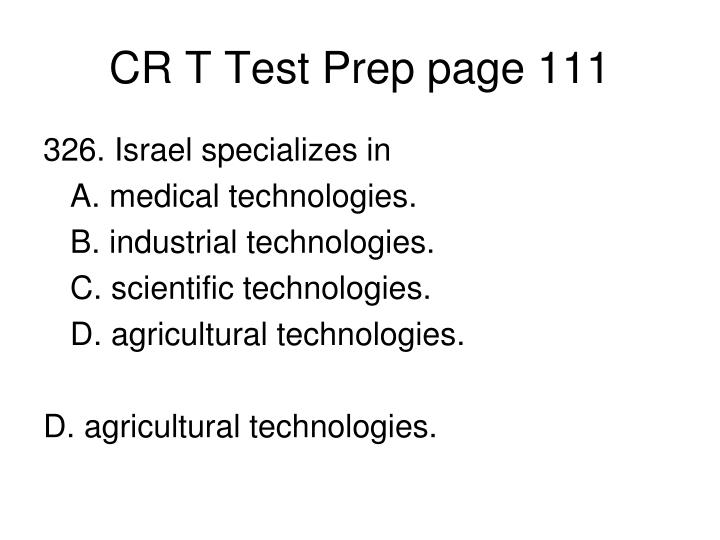 CR T Test Prep page 111