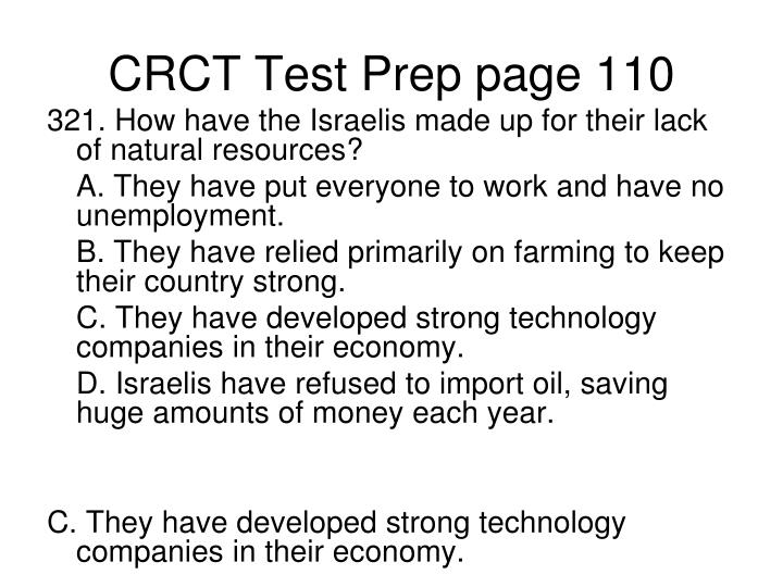CRCT Test Prep page 110