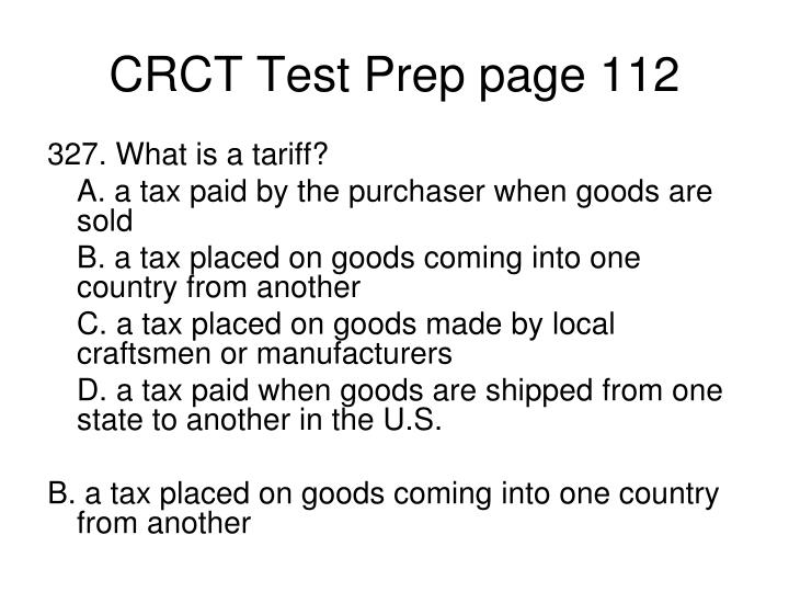 CRCT Test Prep page 112