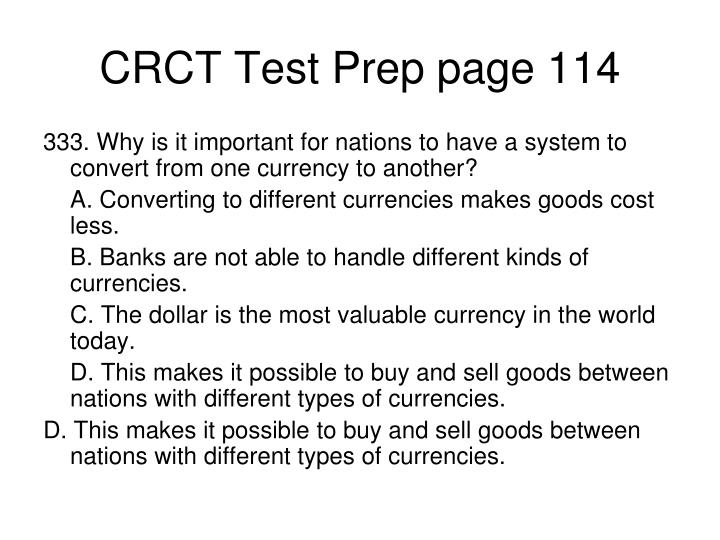 CRCT Test Prep page 114