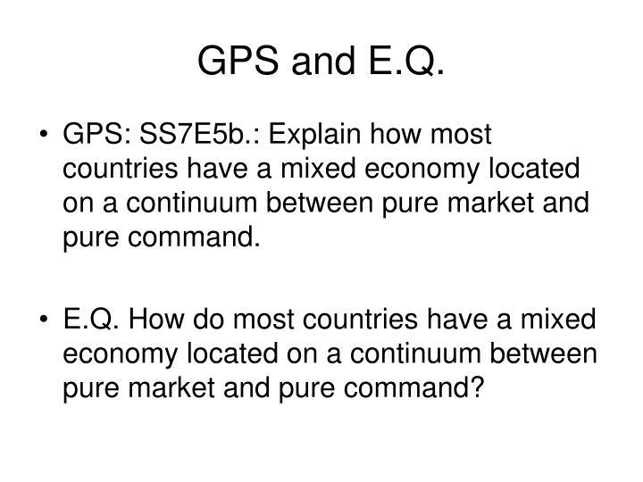 GPS and E.Q.