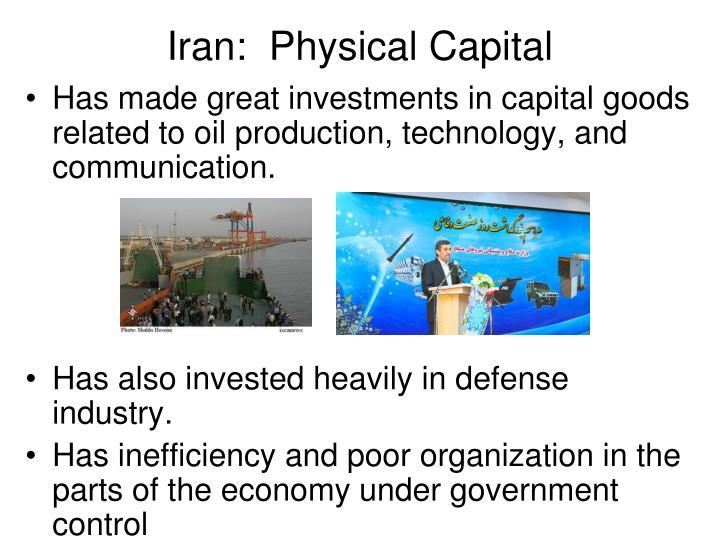 Iran:  Physical Capital