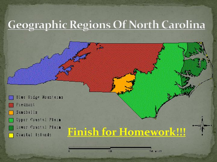 Geographic Regions Of North Carolina