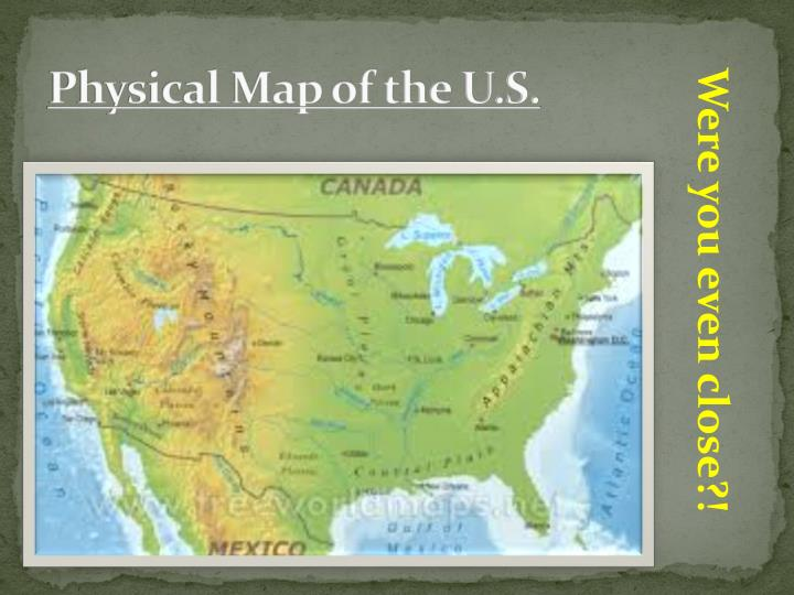 Physical Map of the U.S.