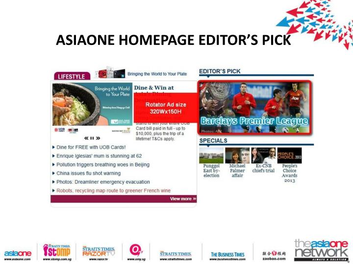 Asiaone homepage editor s pick
