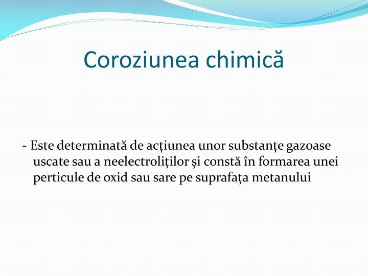 Coroziunea chimică