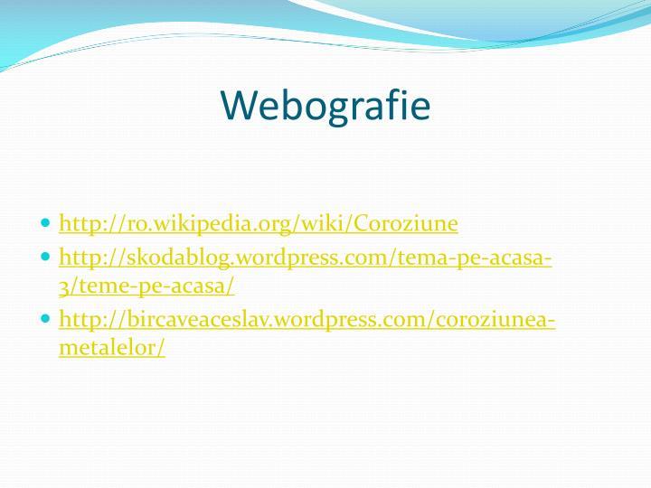 Webografie