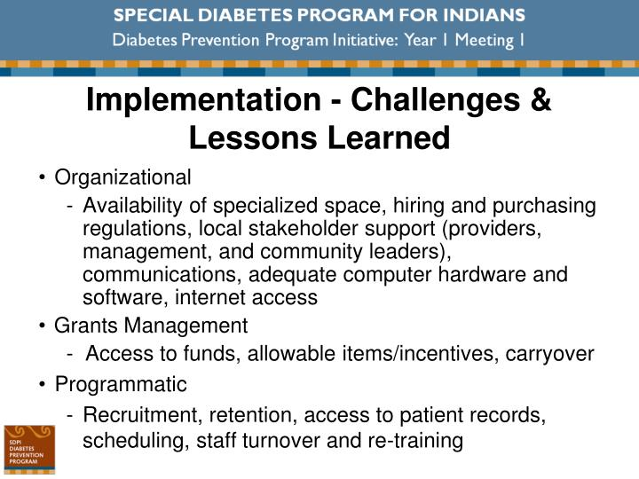 Implementation - Challenges & Lessons Learned