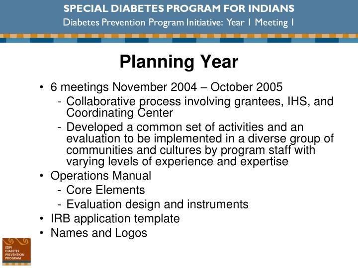 Planning Year
