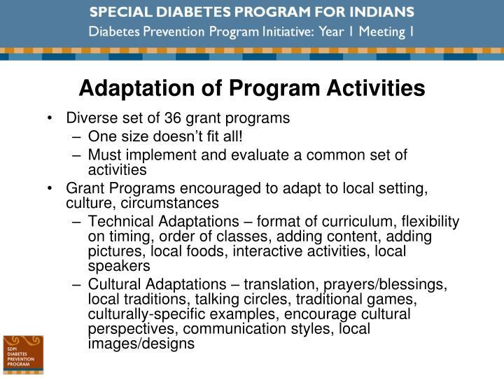 Diverse set of 36 grant programs