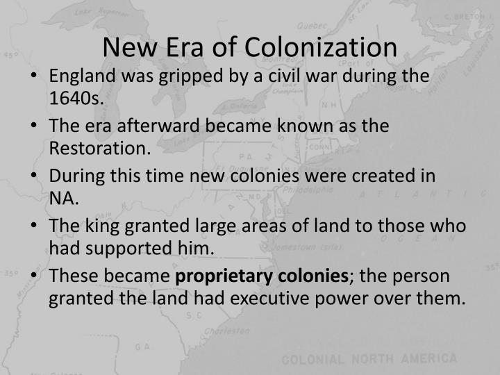 New era of colonization