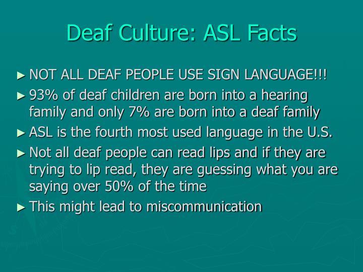 Deaf Culture: ASL Facts