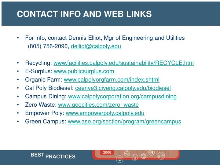 For info, contact Dennis Elliot, Mgr of Engineering and Utilities