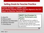 setting goals for teacher practice