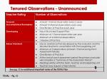 tenured observations unannounced