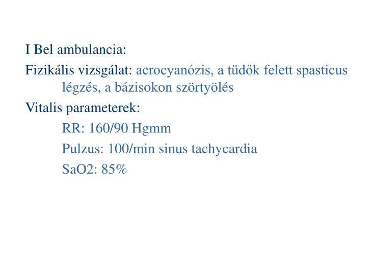 I Bel ambulancia: