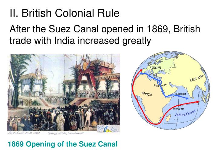 II. British Colonial Rule