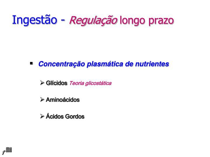 Concentração plasmática de nutrientes
