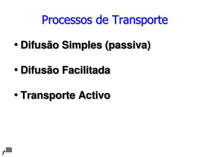 Processos de Transporte