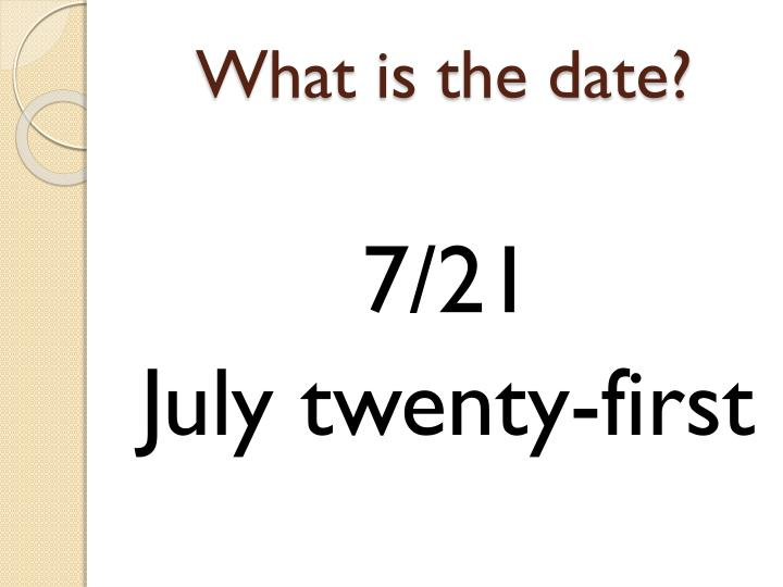 What is the date?