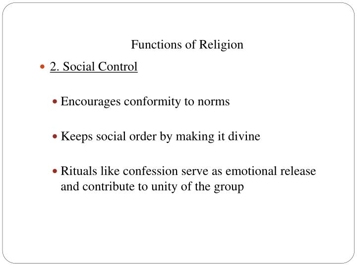 Functions of Religion