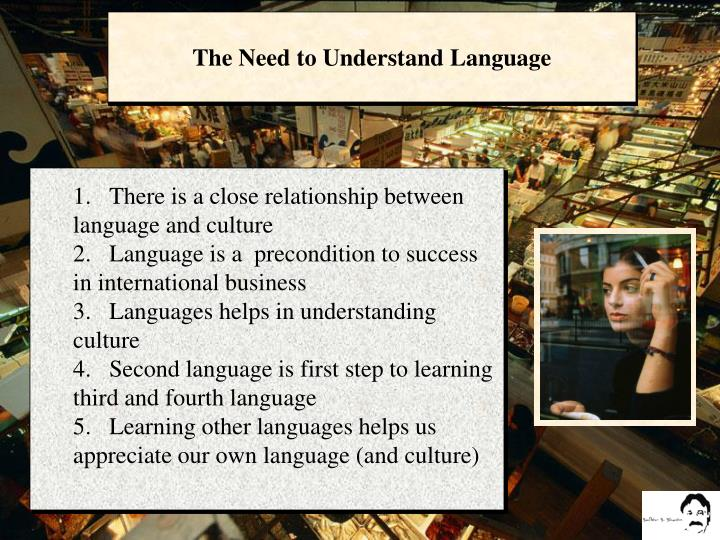 The Need to Understand Language
