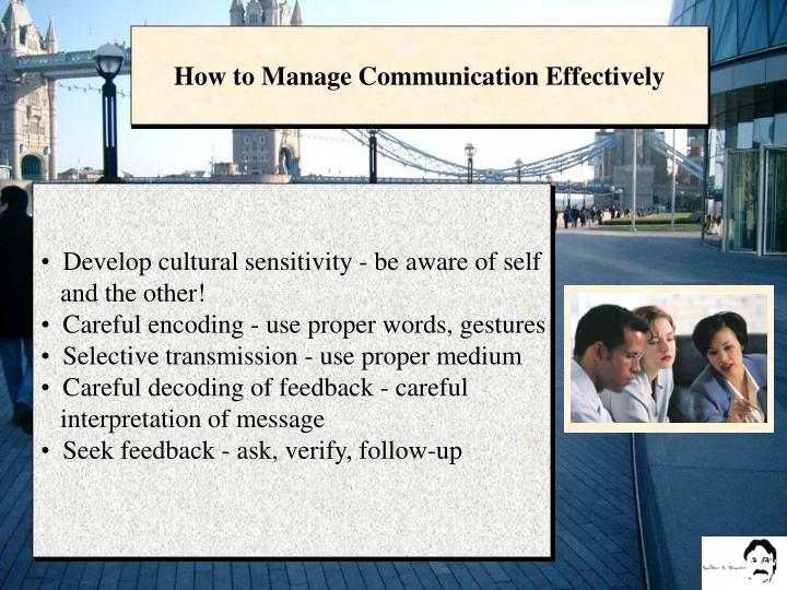 How to Manage Communication Effectively