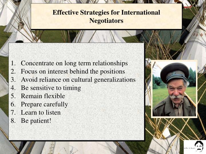 Effective Strategies for International