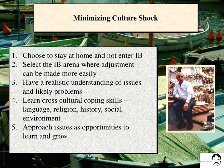 Minimizing Culture Shock